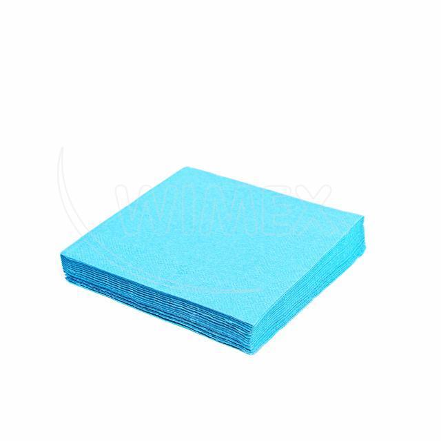 Ubrousek 3vrstvý, 40 x 40 cm světle modrý [250 ks]