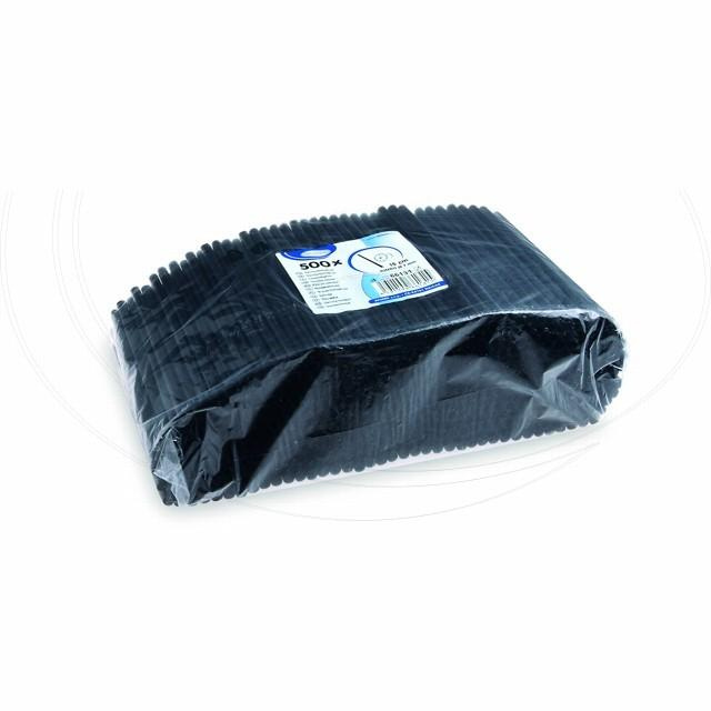Slámka koktejlová JUMBO černá 15 cm, Ø 7 mm [500 ks]
