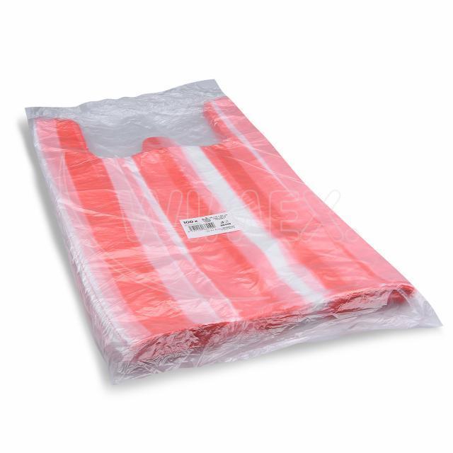 Taška 10kg pruhovaná 30+14 x 50 cm [100 ks]