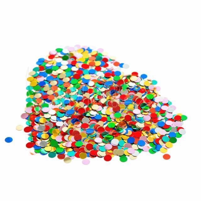 Konfeta papírová, barevný mix 100 g [1 bal.]