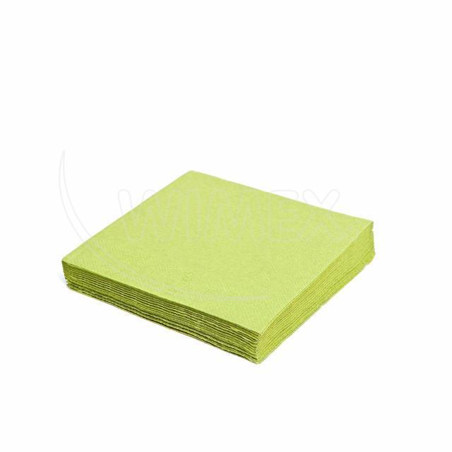 Ubrousek 3vrstvý, 33 x 33 cm žlutozelený [250 ks]