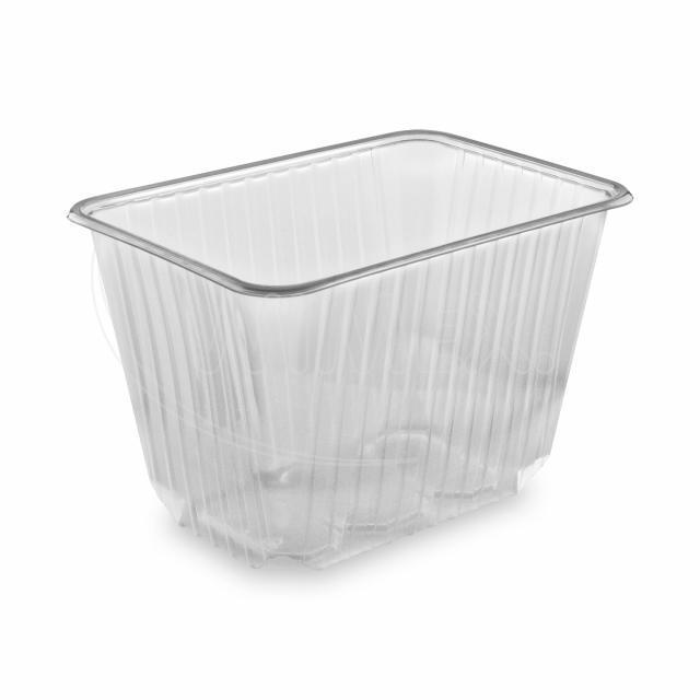 Vanička hranatá průhledná 2000 ml (PP) [50 ks]