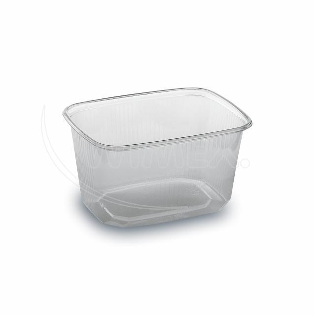 Miska hranatá průhledná 300 ml (PP) [100 ks]