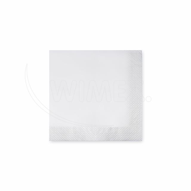 Ubrousek 3vrstvý, 24 x 24 cm bílý [200 ks]
