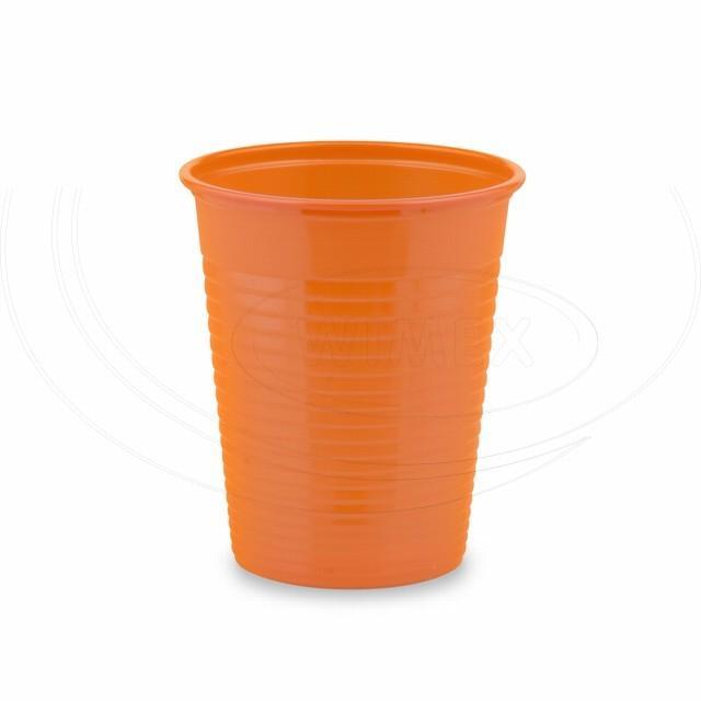 Kelímek oranžový 0,18 l -PS- (Ø 70 mm) [50 ks]