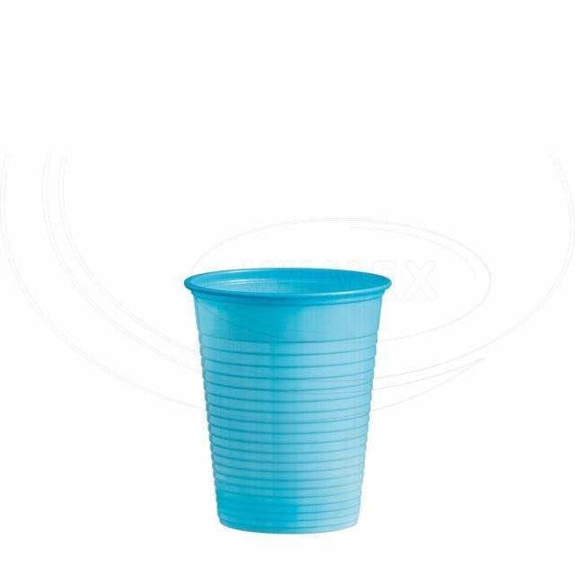 Kelímek světle modrý 0,18 l -PS- (Ø 70 mm) [50 ks]