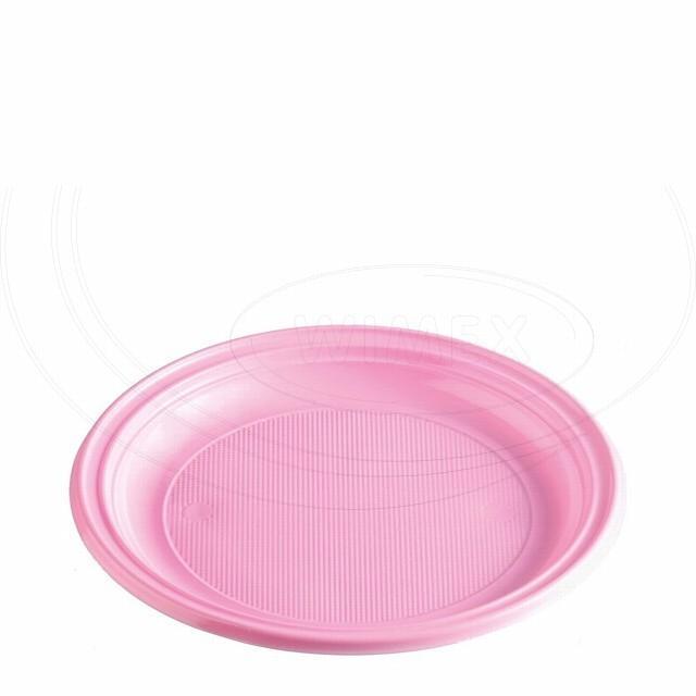Talíř růžový (PS) Ø 22 cm [10 ks]