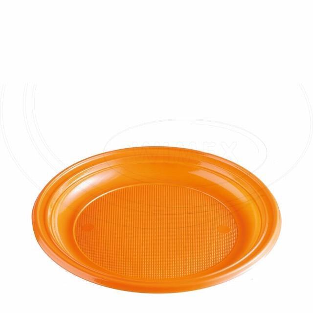 Talíř oranžový (PS) Ø 22 cm [10 ks]