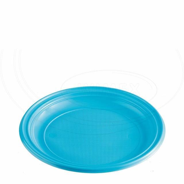 Talíř světle modrý (PS) Ø 22 cm [10 ks]