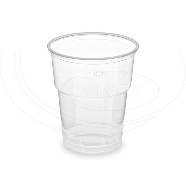 Kelímek průhledný 0,2 l (PP) -extra pevný- (Ø 78 mm) [50 ks]