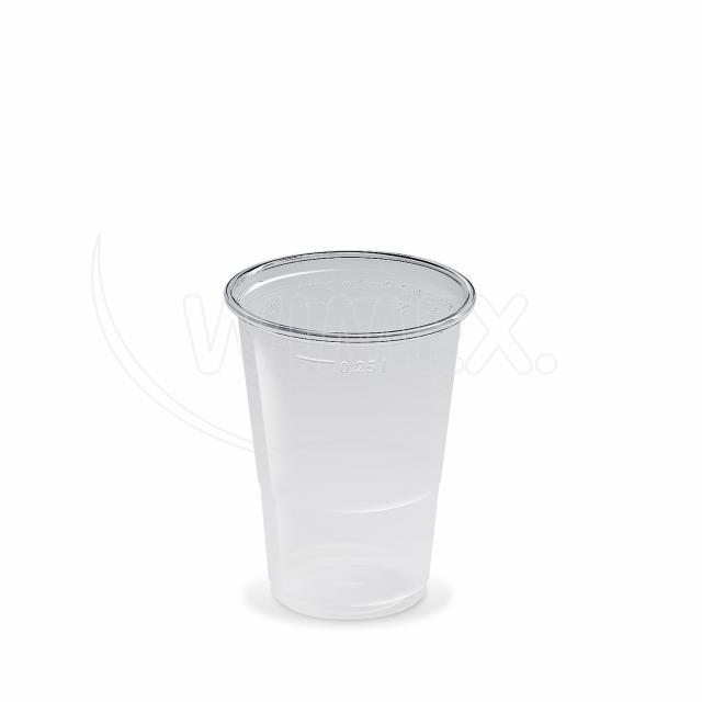 Kelímek průhledný 0,25 l -PP- (Ø 78 mm) [50 ks]