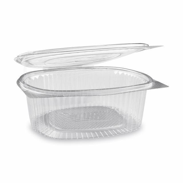 Miska oválná průhledná s víčkem 1500 ml (PET) [50 ks]