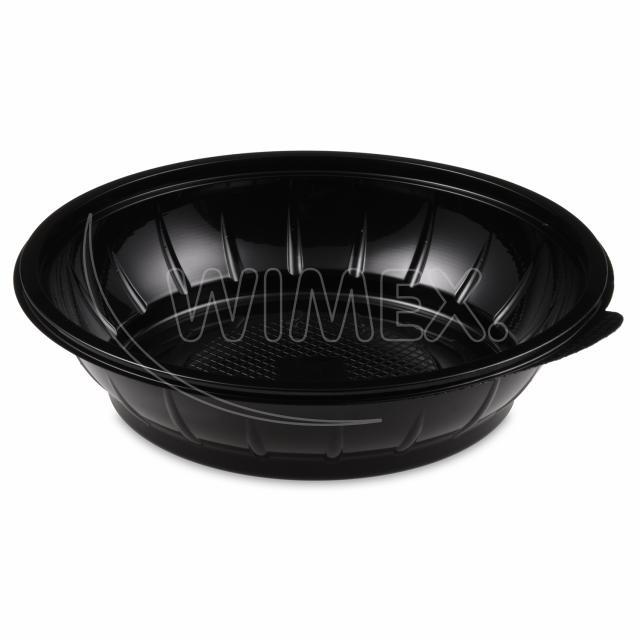 Salátová miska černá 1000 ml (PET) [50 ks]