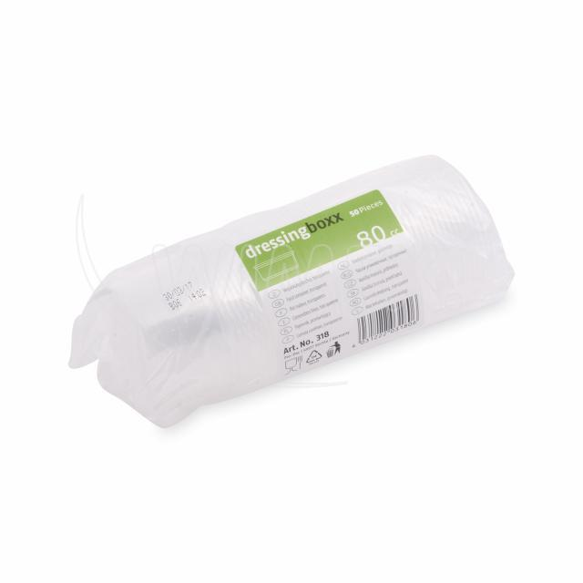 Dresinková miska průhledná 80 ml (PP) [50 ks]