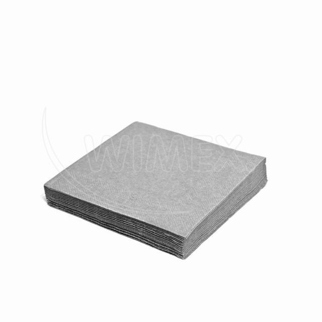 Ubrousek 3vrstvý, 33 x 33 cm šedý [20 ks]