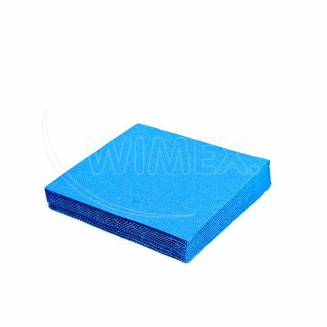 Ubrousek 3vrstvý, 33 x 33 cm modrý [20 ks]