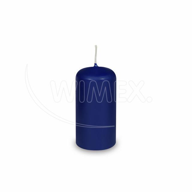 Svíčka válcová Ø 40 x 80 mm tmavě modrá [4 ks]