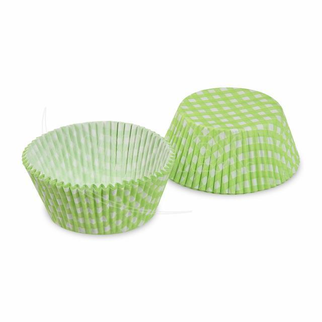 Cukrářský košíček KARO zelený Ø 50 x 30 mm [40 ks]