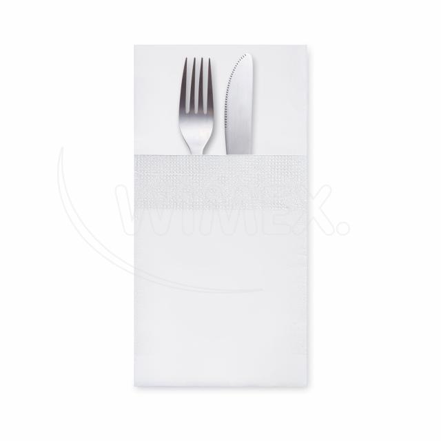 """Ubrousek 3vrstvý, 40 x 40 cm """"CutleryStar"""" bílý [200 ks]"""