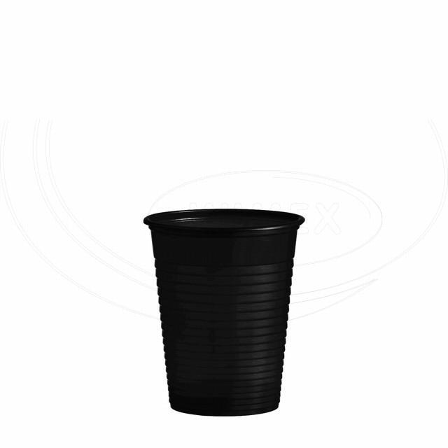 Kelímek černý 0,18 l -PS- (Ø 70 mm) [50 ks]