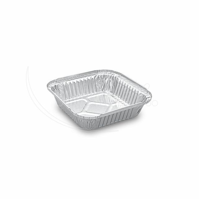 Miska hranatá ALU (560 ml) 15,8 x 15,8 x 3,4 cm [100 ks]