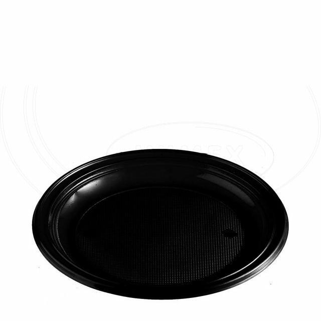 Talíř černý (PS) Ø 22 cm [10 ks]