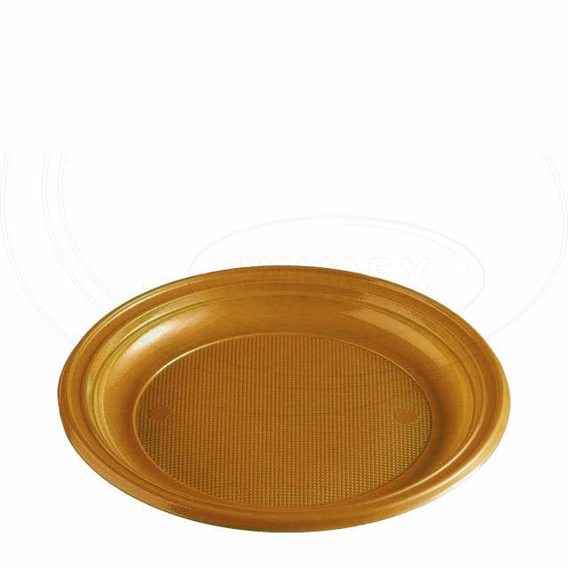 Talíř zlatý (PS) Ø 22 cm [30 ks]
