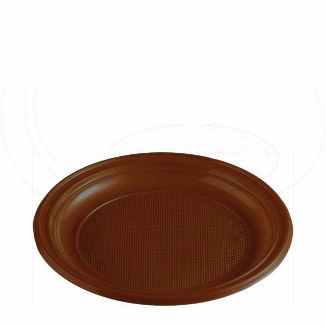 Talíř hnědý (PS) Ø 22 cm [10 ks]