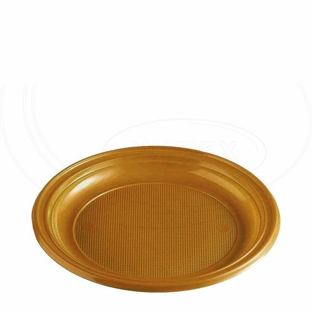Talíř zlatý (PS) Ø 22 cm [10 ks]