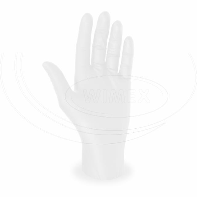 Rukavice nitrilové bílá, nepudrovaná (velikost M) [100 ks]