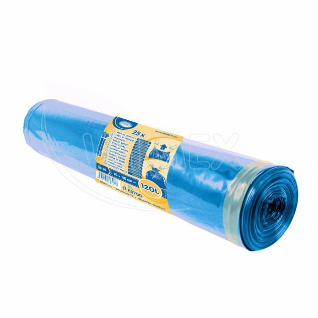 Pytel na odp. zatahovací modrý 70 x 100 cm, Typ 60 [25 ks]