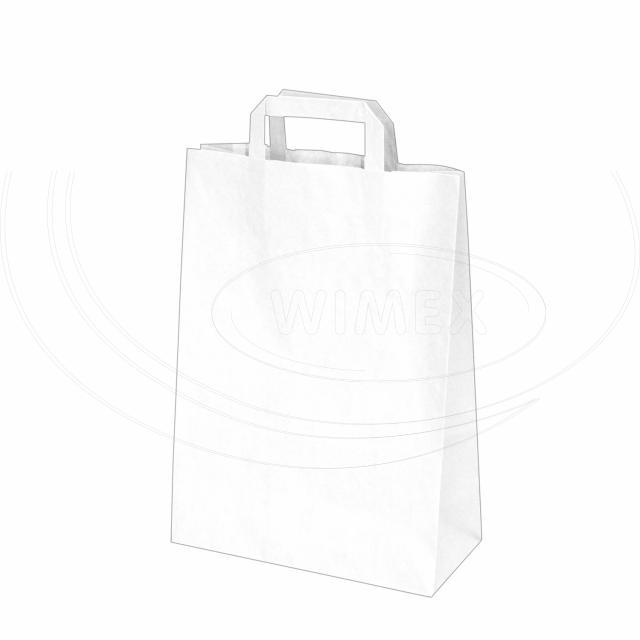 Papírová taška 26+12 x 36 cm bílá [50 ks]
