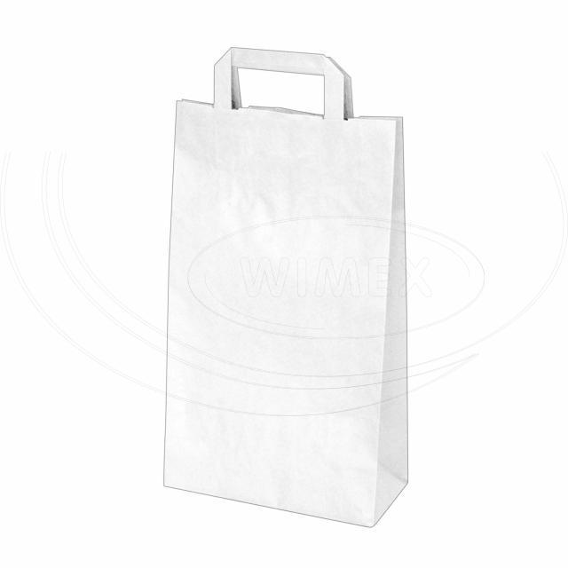 Papírová taška 22+10 x 38 cm bílá [50 ks]
