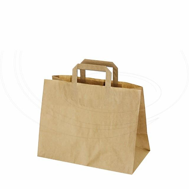 Papírová taška 32+17 x 25 cm hnědá [50 ks]