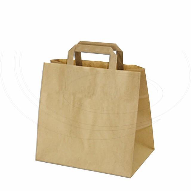 Papírová taška 32+21 x 27 cm hnědá [50 ks]