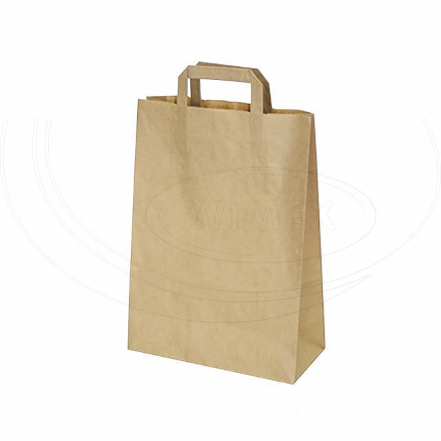 Papírová taška 22+10 x 28 cm hnědá [50 ks]