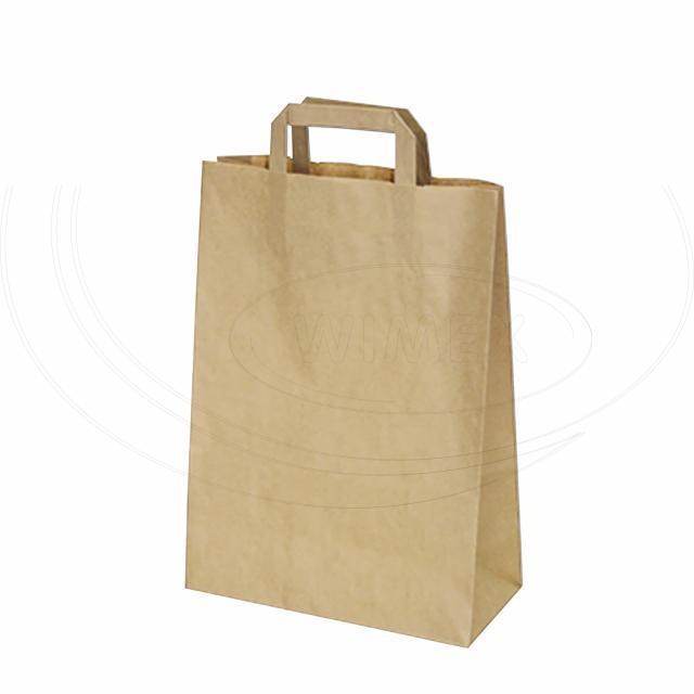 Papírová taška 26+12 x 36 cm hnědá [50 ks]