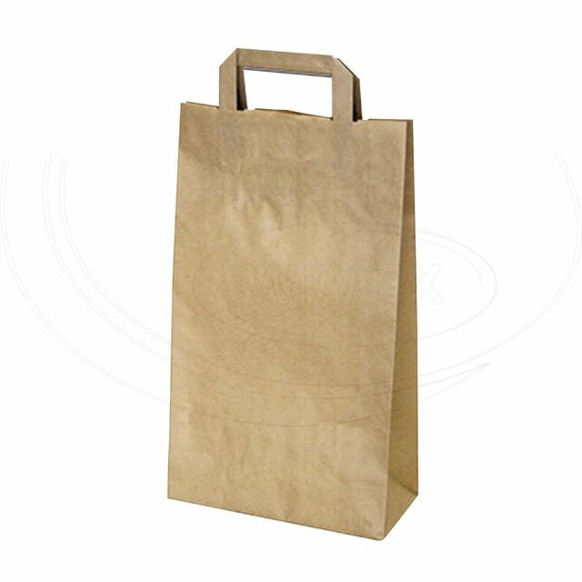 Papírová taška 22+10 x 38 cm hnědá [50 ks]