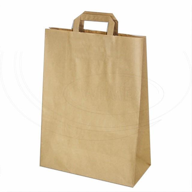 Papírová taška 32+15 x 43 cm hnědá [50 ks]