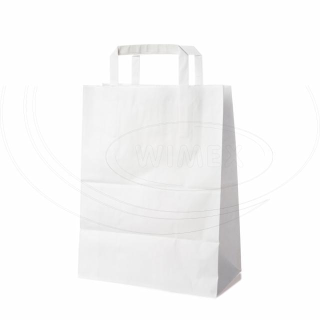 Papírová taška 22+10 x 36 cm bílá [250 ks]