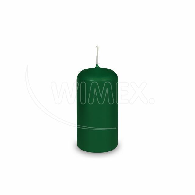 Svíčka válcová Ø 40 x 80 mm tmavě zelená [4 ks]
