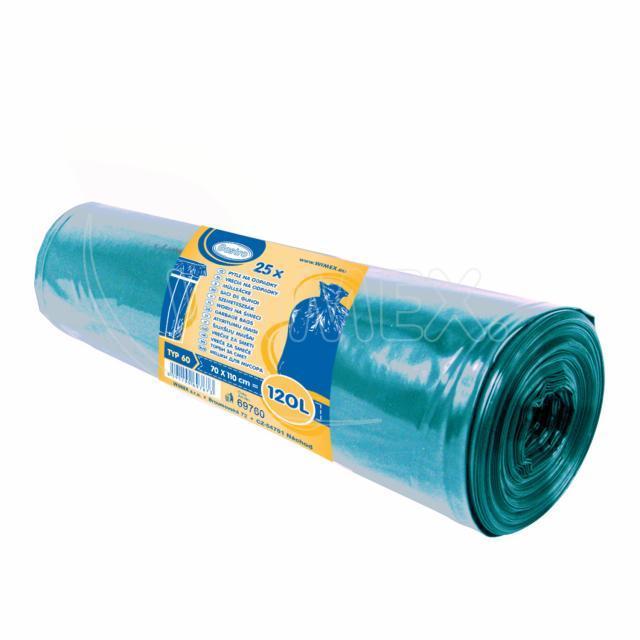 Pytel na odpadky modrý 70x110cm, 120 l, Typ 60 [25 ks]