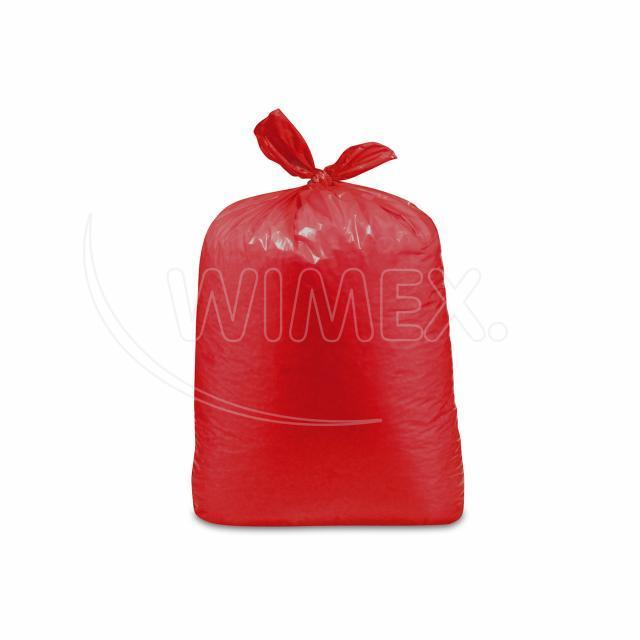 Pytel na odpadky červený 70x110cm, 120 l, Typ 60 [25 ks]