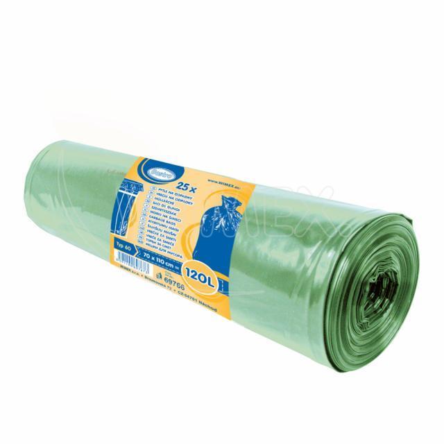 Pytel na odpadky zelený 70x110cm, 120 l, Typ 60 [25 ks]