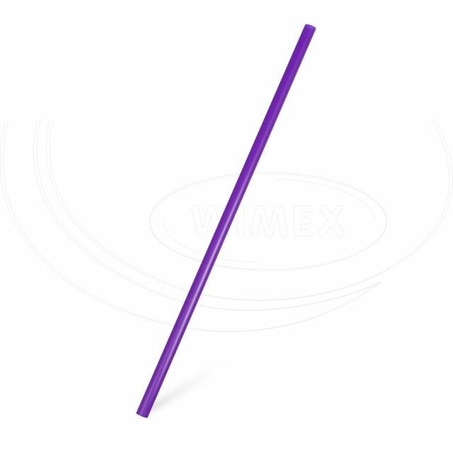 Slámka JUMBO fialová 25 cm, Ø 8 mm [150 ks]