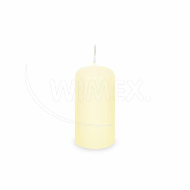Svíčka válcová Ø 40 x 80 mm béžová [4 ks]