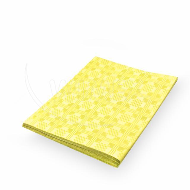 Pap. ubrus skládaný 1,80 x 1,20 m žlutý [1 ks]