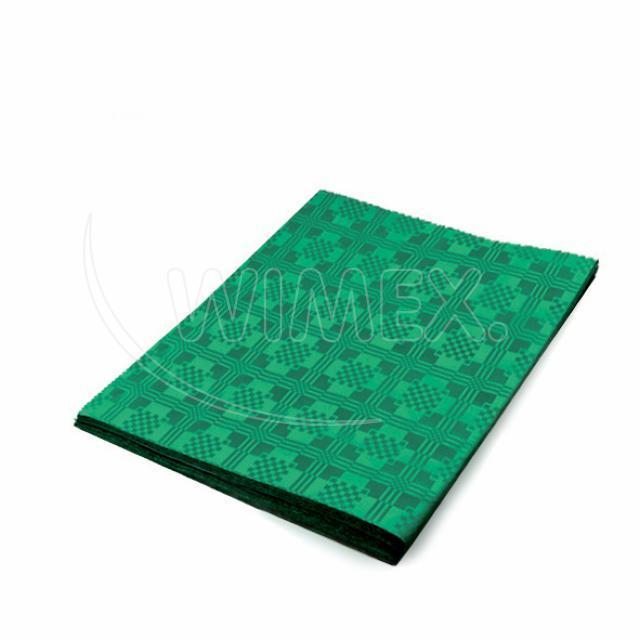 Pap. ubrus skládaný 1,80 x 1,20 m tmavě zelený [1 ks]