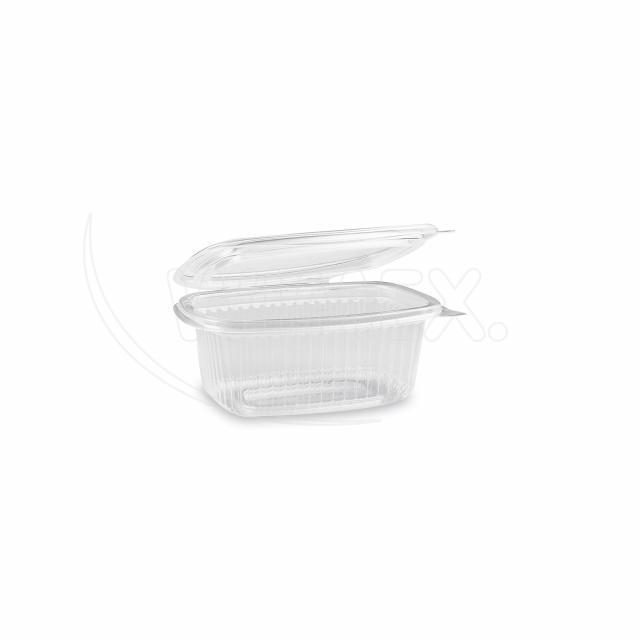 Miska oválná průhledná s víčkem 250 ml (PP) [50 ks]
