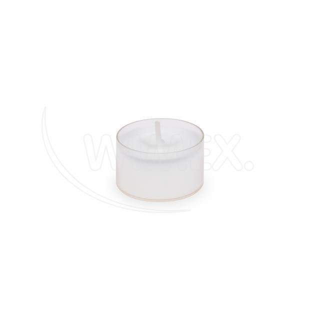 Svíčka čajová v průhledném kelímku Ø 39 mm, 6 h. [24 ks]